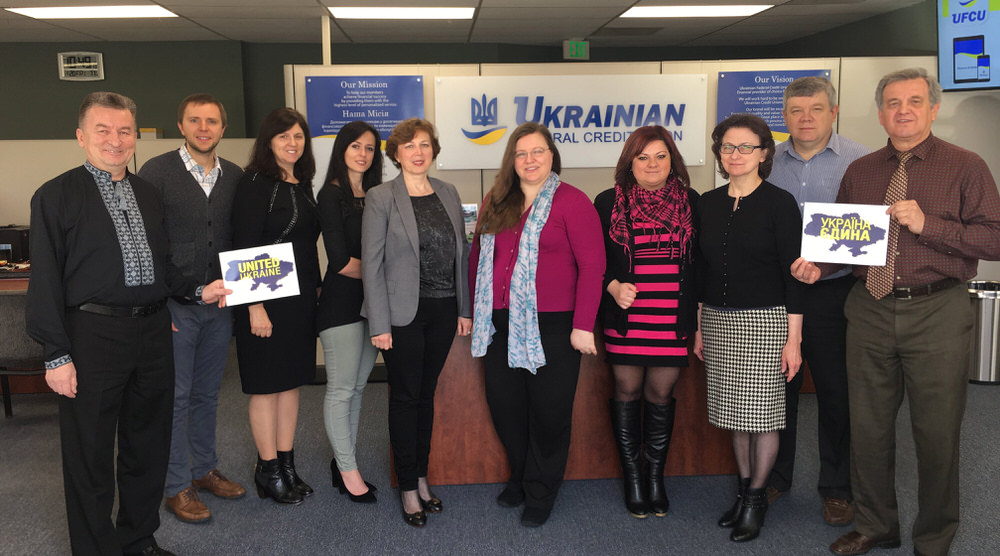 Staff acknowledge a United Ukraine