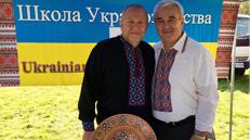Two gentlemen at Ukrainian School both