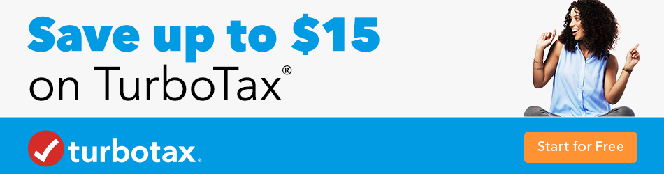 Save up to $15 on taxes by filing with TurboTax banner