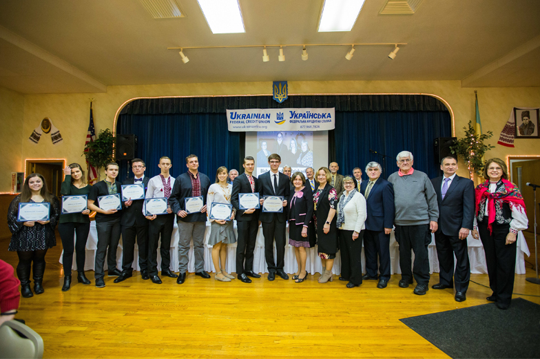 Group of student members receive scholarships