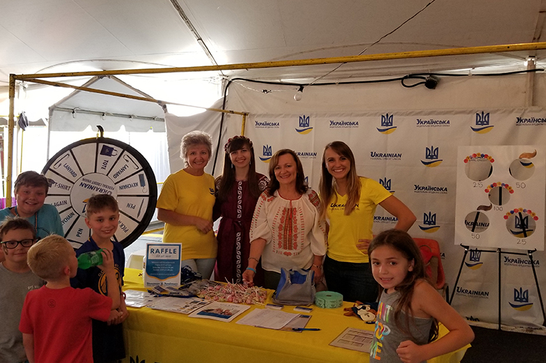 Photo of volunteers in booth