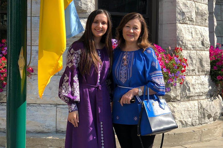 Two women outside standing for a photo