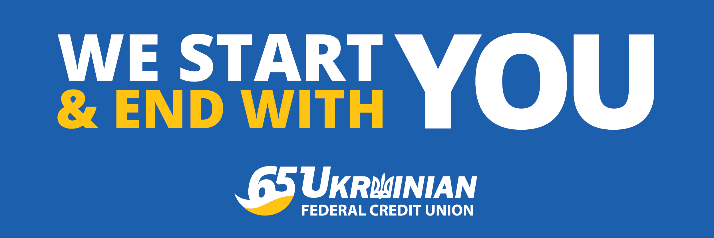We start and end with you logo