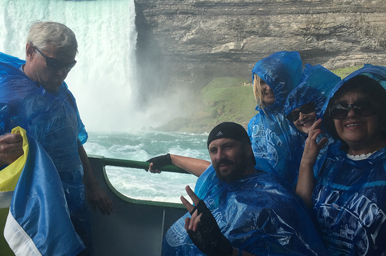 Photo of group at Niagara Falls