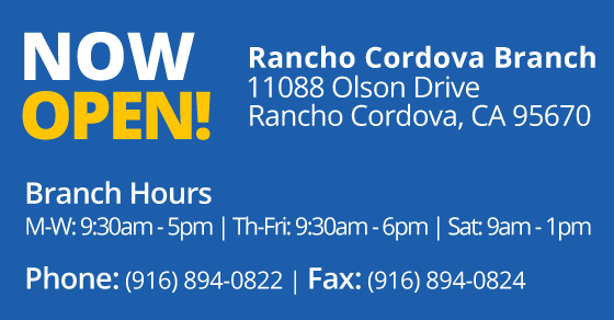 Rancho Cordova now open graphic