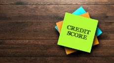 Credit Score Sticky Note