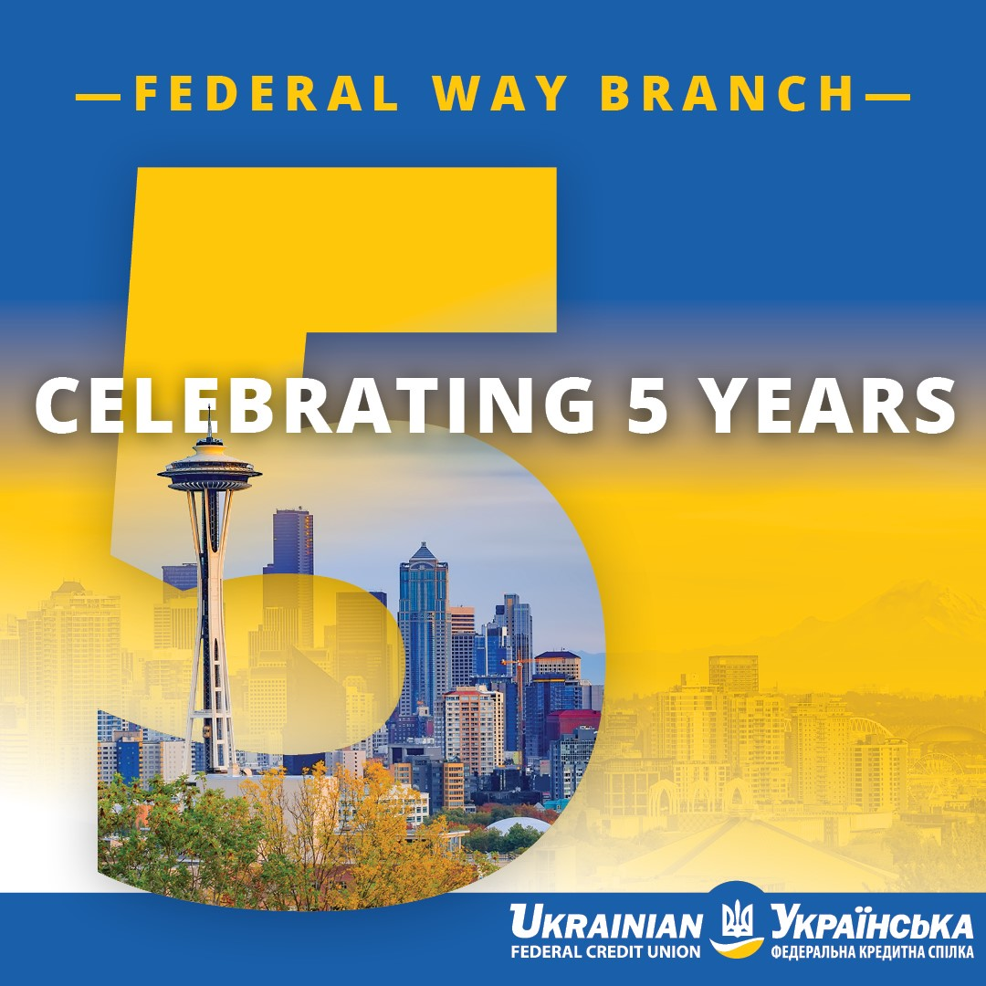 Federal Way branch 5th anniversary graphic