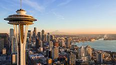 Seattle needle and skyline
