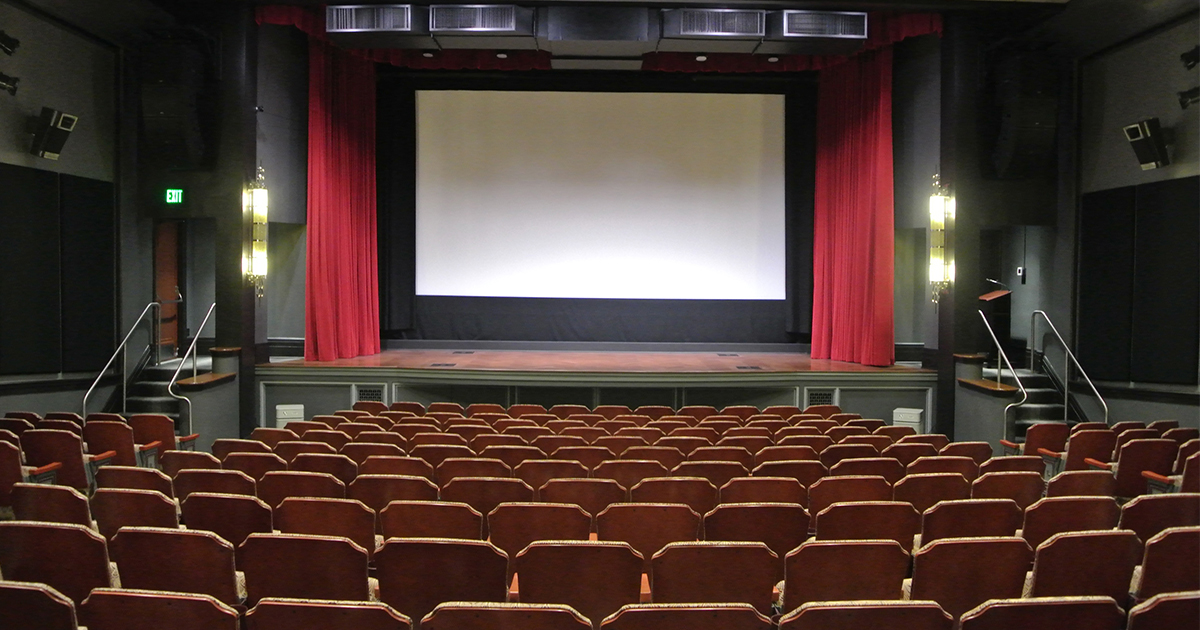 theater seats and screen